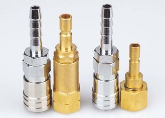 China Korean Type Pneumatic Quick Release Coupling , LSQ-DD Nickle Plated Pneumatic Connectors supplier