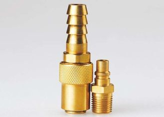 China High Flow Pneumatic Quick Release Coupling , Mini Brass Quick Release Coupling supplier