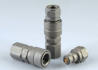 Zinc Nickle Plated High Pressure Hydraulic Couplings Carbon Steel Special Valve Design
