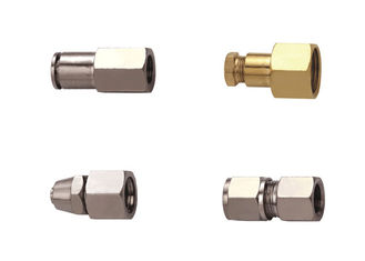 China Pressure Gauge Pneumatic Connectors Fittings Straight - Through In Brass Nickle Plated supplier