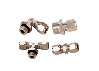 China High Strength Metric Pneumatic Fittings Nickle Plated JKG Cutting Ferrule supplier