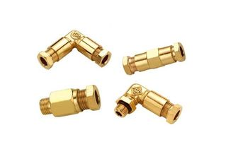 China Cutting Ferrule Type Pneumatic Fittings , JKY Pneumatic Tube Fittings In Brass supplier