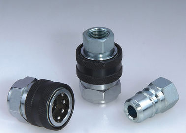 China TEMA KEW Type High Flow Hydraulic Quick Couplers , Non - Valve High Flow Quick Coupler distributor