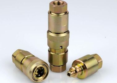 China Poppet Valve High Pressure Hydraulic Couplings , Chrome Three High Pressure Fittings distributor