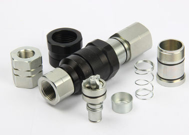 China Avoiding Toughness Flat Faced Hydraulic Coupler Chrome Three LSQ-VEP Thread Locked Type factory