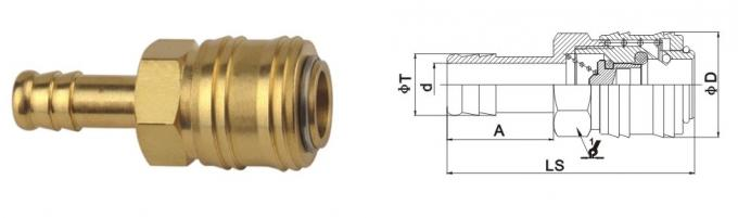 Professional Pneumatic Quick Connect Coupling , Nickle Plated Air Quick Disconnect