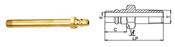 High Flow Pneumatic Quick Release Coupling , Mini Brass Quick Release Coupling
