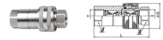 Stainless Steel 1 Inch Hydraulic Quick Coupler Stander Seal Material SS316