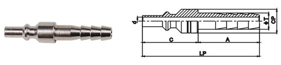 Small Dimensions Female Quick Release Coupling LSQ-CC50 Japanese Type