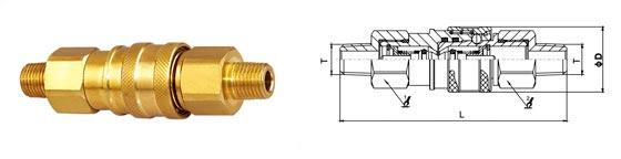 Thread Brass Hydraulic Quick Connect Couplings , Male Hydraulic Coupler ISO7241-B