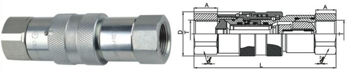 Chrome Three ISO 16028 Flat Face Couplings LSQ-PTF Single Handed Operation