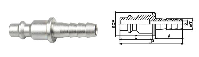 Parker 20 Series Pneumatic Quick Connect Coupling Universal In Carbon Steel