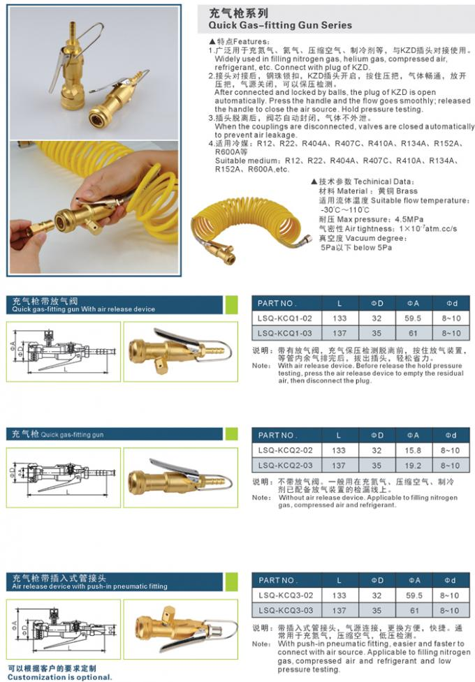 Elegant Appearance Refrigeration Crimp Fittings Quick Gas - Fitting Gun Series